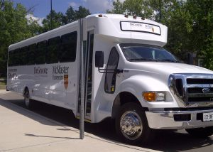 RJC Shuttle bus out front of DSB